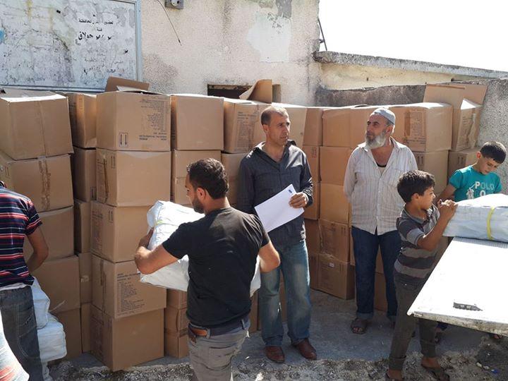 Distribution of health baskets in rural Lattakia