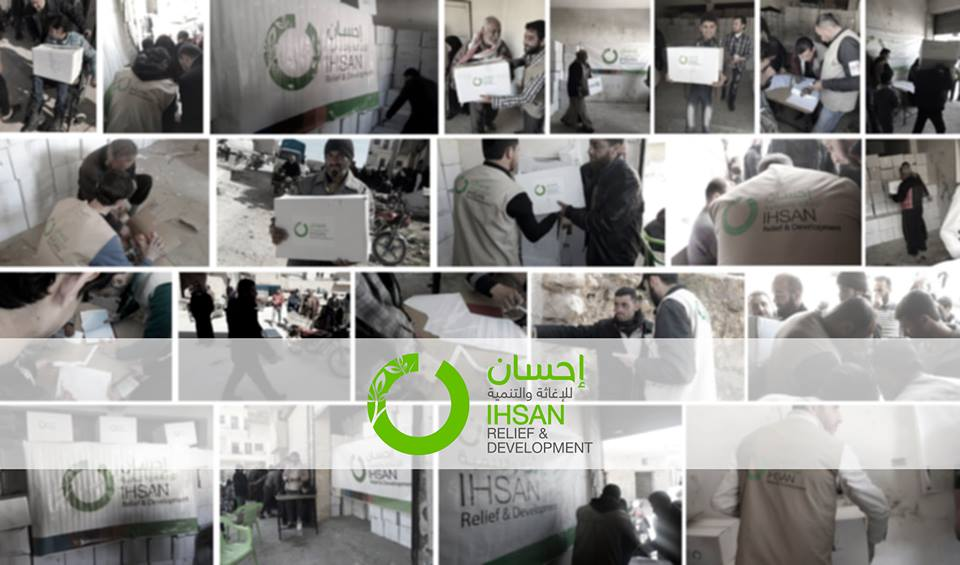‪#‎Ihsan‬ distributed 7500 food packages to the IDP in ‪#‎Aleppo‬ Suburbs ‪#‎Syria
