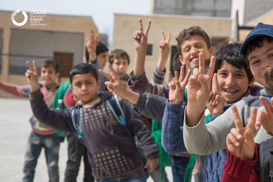 ‎Ihsan‬ has helped to renovate and equip 3 schools in villages and towns in rural ‪#‎Aleppo‬.