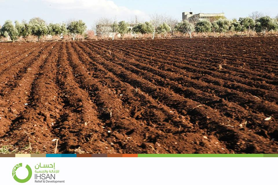 agricultural project executed by #Ihsan in the besieged areas north of #Homs – Syria.
