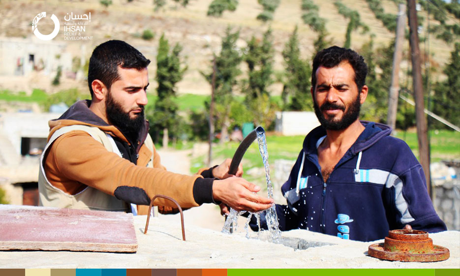Water goes back to Ain al-Souda after rehabilitation project of the water station implemented by IhsanRD