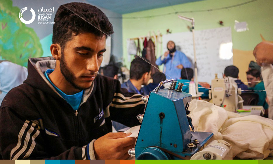 IhsanRD and Youth… New and diverse horizons within Youth Support Center in the northern Homs countryside