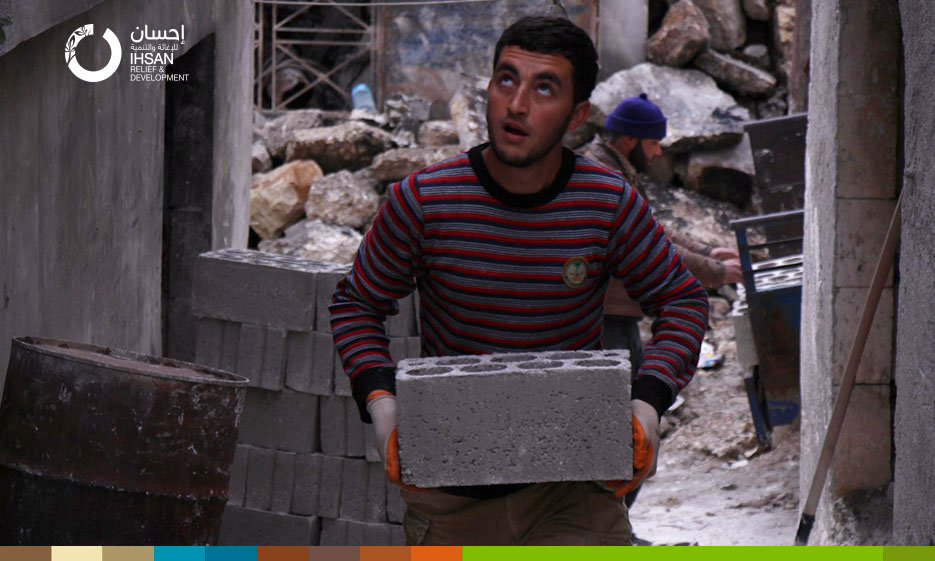 As winter is coming, 40 families will return to their homes in the countryside of Idlib after being repaired by IhsanRD