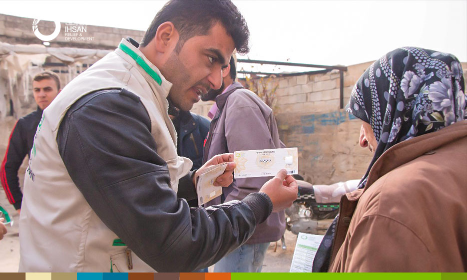 Distribution of food support vouchers for 500 families within the Emergency Response Plan for IDPs in Southern Idlib countryside