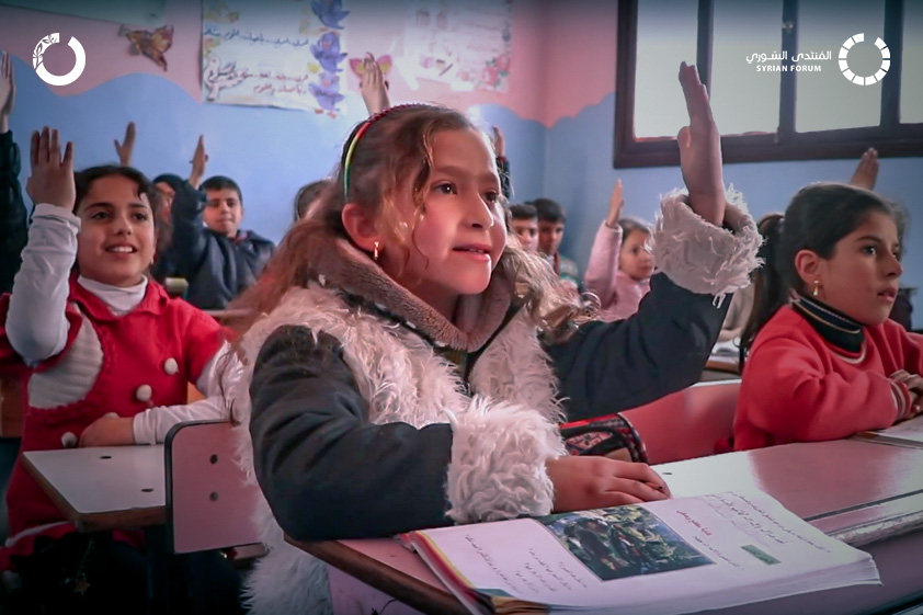 With the help of her teacher, Shaimaa returns to play and concentrate in class after losing her parents